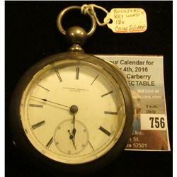 """Rockford Watch Co. Illinois"", Key wind, ""Dueber Coin (Silver)"" Watch case. No key. Movement No. 134"