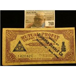 "1-2 Coupon ""Mutual Profit Coupon Corporation New York, NY. One-Tenth Certificate…Issued by Diamond C"