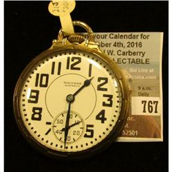 """Waltham U.S.A. Riverside"" 21 jewels, Open faced Pocket Watch, ""Main Wheel Jeweled"" Movement no. 304"