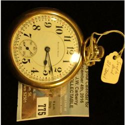 """South Bend Watch Co. U.S.A."" Lever-set Pocket Watch, 21 Jewels, movement no. 927566, engraved insid"