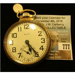 """B.W. Raymond Elgin National Watch Co."" 21 Jewels, Open face Pocket Watch, movement no. 28233595, ca"