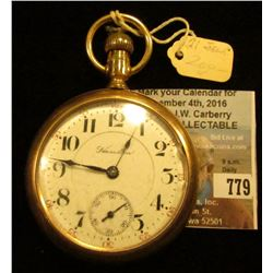 Hamilton Watch Co. lever-set Pocket Watch, 21  Jewel Motor Barrel 940, 20 Year case, Chip out of fro