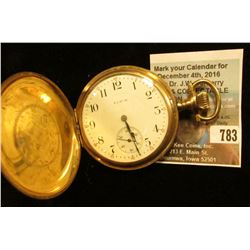 Elgin National Watch Co. 17 Jewel Hunting Case Pocket Watch, Movement no. 18046787, runs fine.