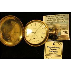 Elgin National Watch Co. 15 Jewel Hunting Case Pocket Watch, need a new crystal, runs fine.