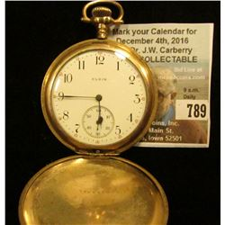 Elgin National Watch Co. Hunting case Pocket Watch, not running,