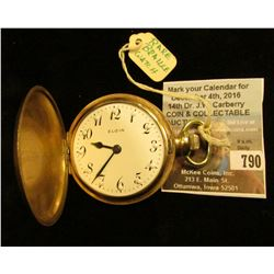 "Elgin National Watch Co. Hunting case Braille Pocket Watch, 9 Jewels, engraved inside ""To Fred Payne"