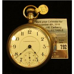 """Washington Watch Co."", Lever set, Open-face, ""Senate"" 17 Jewels, movement no. 2779530. Illinois Wat"
