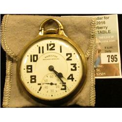 """Hamilton Railway Special"" Open-face Pocket Watch, 21 jewels, Model 992, movement no. 2651575. Case"