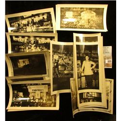 Group of 1930-40 era Black and White Photo's of the inside of the Griffin Pharmacy, in Mapleton, Iow