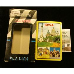 Deck of Souvenir of Iowa Playing Cards. Like new in box.