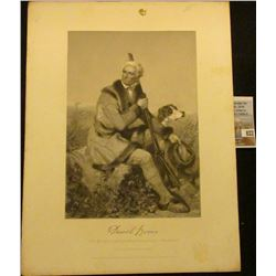 "8"" x 11"" Print of ""Daniel Boone from the original Painting of Chappel."