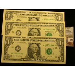 (3) Series 2003A $1 U.S. Federal Reserve Notes. CU.