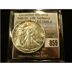 1944 D Gem BU Walking Liberty Half Dollar.