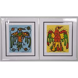 """Norval Morrisseau (1931-2007) 'Picasso of the North' Set of 2 Limited Edition Giclees. """"Thunderbird"""