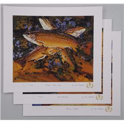 Tom Thomson (1877-1917) Art Folio with (3) Matched Number Litho's - 'The Fisherman Suite' Each Image