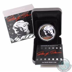AUSTRALIA; 2012 Marilyn Monroe 1oz. Silver Proof (TAX Exempt).