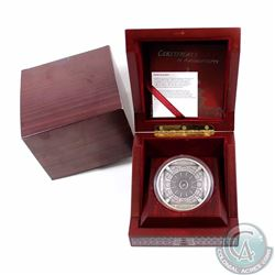COOKS ISLAND; 2015 100 gram $20 Silver Temple of Heaven 4-Layer Coin. This coin contains 3.215 oz of