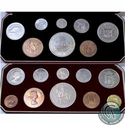 NEW ZEALAND/BRITAIN; Set of 2 original 1953 Queen Elizabeth Proof Mint Sets. Lot includes an 8-coin