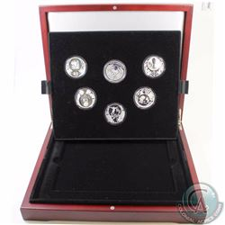 SOUTH AFRICA; 2010 FIFA World Cup 2 Rand Premium 6-coin Fine Silver Set. This premium set includes f
