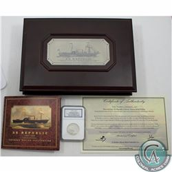 UNITED STATES; 1859-O S.S. Republic Seated Liberty NGC Certified Half Dollar; Shipwreck Effect.