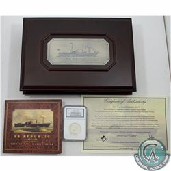 UNITED STATES; 1860-O S.S. Republic U.S. Mint Issue Seated Liberty NGC Certified Half Dollar; Shipwr