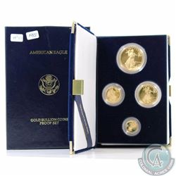 UNITED STATES; Gold 1988 4-coin Proof Eagle Set in Original Mint Packaging and C.O.A. Set contains 1