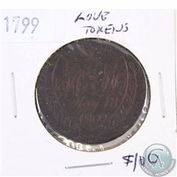 Token: Love Token struck on a 1799 Great Britain Penny.