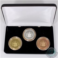 Medallion: 1952-2012 Royal Canadian Numismatic Association 3-coin Silver, Brass & Copper Set Commemo