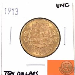 CANADA 1913 $10 Gold MS-60