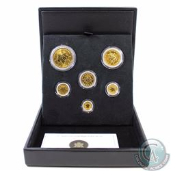 CANADA 1979-2004 25th Anniversary Pure Gold Maple Leaf 6-Coin Set (TAX Exempt). 2004 25th Anniversar