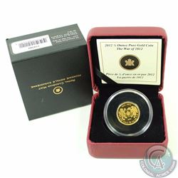 CANADA 2012 $10 The War of 1812  .9999 Pure Gold Coin (TAX Exempt)