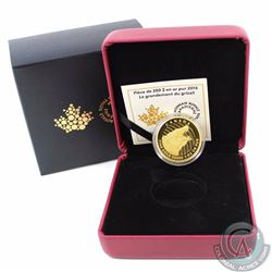 CANADA 2016 Canada $200 Proof Roaring Grizzly Bear Pure Gold (TAX Exempt)