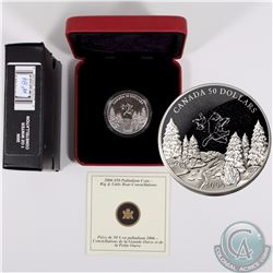 CANADA 2006 Winter $50 1oz Palladium Big and Little Bear Constellations. Comes with all original Min