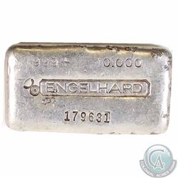 CANADA Vintage Engelhard 10 oz Series3 999  Fine Silver Old Poured Bar (Tax Exempt) Serial