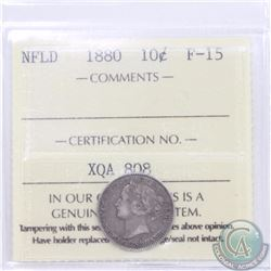 Newfoundland 10-cent 1880 ICCS Certified F-15