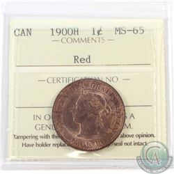 1-cent 1900H ICCS Certified MS-65 Red