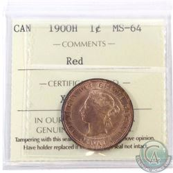 1-cent 1900H ICCS Certified MS-64 Red