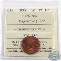 1-cent 2006 Magnetic ICCS Certified MS-63 Red