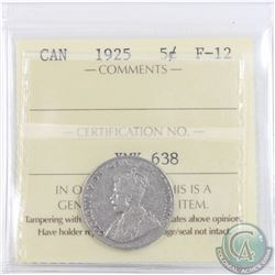 5-cent 1925 ICCS Certified F-12