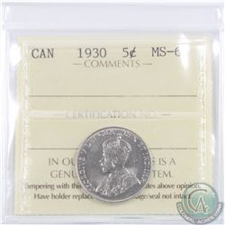 5-cent 1930 ICCS Certified MS-63