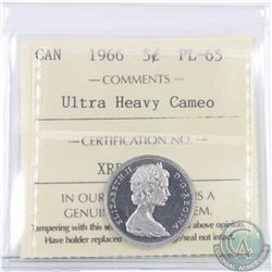 5-cent 1966 ICCS Certified PL-65 Ultra Heavy Cameo