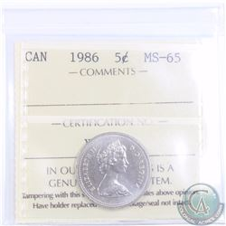 5-cent 1986 ICCS Certified MS-65