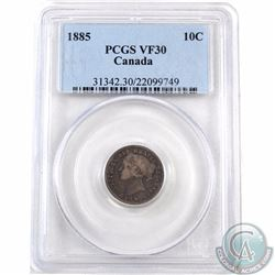10-cent 1885 PCGS Certified VF-30