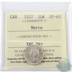 10-cent 1937 ICCS Certified SP-65 Matte
