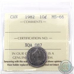 10-cent 1982 ICCS Certified MS-66. Tied with 2 others for finest known