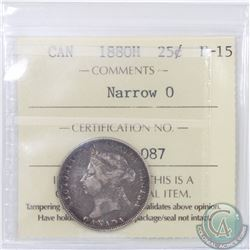 25-cent 1880H Narrow 0 ICCS Certified F-15