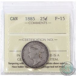 25-cent 1885 ICCS Certified F-15
