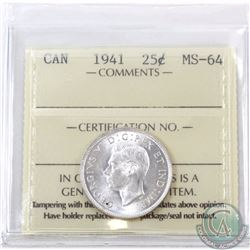 25-cent 1941 ICCS Certified MS-64