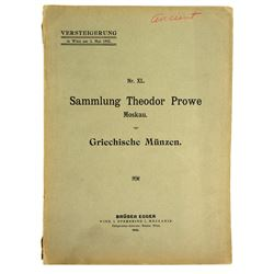 The Brüder Egger Sales of the Theodor Prowe Collection