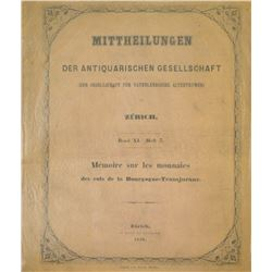 A Rare Publication on the Coins of Burgundy